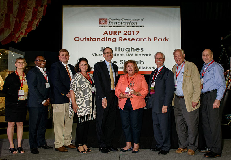 Outstanding Research Park Award University of Maryland BioPark